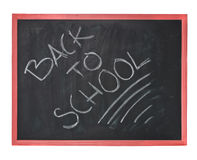 Chalk borad. Consept: back to school written on a chalk board royalty free stock photos