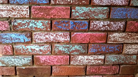 Chalk on brick wall Royalty Free Stock Photography