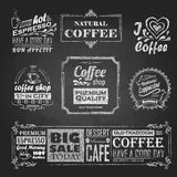 Chalk calligraphic drawing Royalty Free Stock Images
