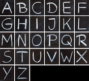 Chalk calligraphy alphabet Stock Image