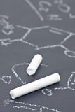 Chalk on chalkboard with chemical formula Stock Photography