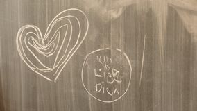 Chalk on chalkboard Royalty Free Stock Photography