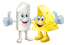 Chalk and cheese friends Stock Photography