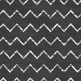 Chalk chevron blackboard seamless pattern Stock Image