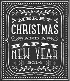 Chalk Christmas Card Stock Images
