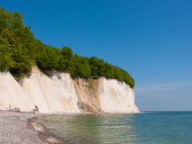 Chalk cliff coast Royalty Free Stock Images