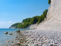 Chalk cliff coast Stock Images