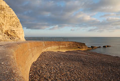 Chalk cliff hill seaside seven sisters england Royalty Free Stock Photo