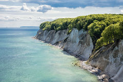 Chalk cliff. On the island Ruegen in Germany Royalty Free Stock Image