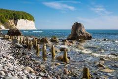 Chalk cliff on the island Ruegen Royalty Free Stock Photography
