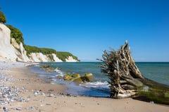 Chalk cliff on the island Ruegen Stock Photo