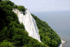 Chalk cliff Koenigsstuhl on Ruegen in Germany Stock Photo