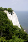Chalk cliff Koenigsstuhl on Ruegen Royalty Free Stock Photo