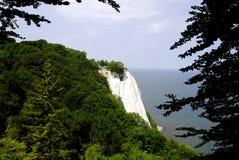 Chalk cliff Koenigsstuhl on Ruegen Stock Images