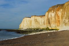 Chalk cliff rock formation. Stock Images
