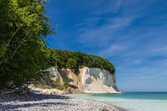 Chalk cliffs. On shore of the Baltic Sea on the island Ruegen (Germany Royalty Free Stock Image