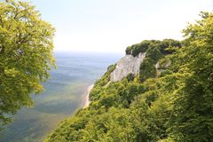 Free Chalk Cliffs And Blue Sea In Ruegen Island, Baltic Sea, Germany Stock Photography - 129528012