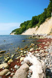 Chalk cliffs and Baltic Sea Stock Photo