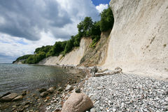 Chalk cliffs and beach on the island of Ruegen, Germany Royalty Free Stock Images