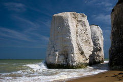 Chalk cliffs at Botany Bay, Kent, U.K Stock Photos