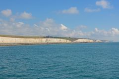 Chalk cliffs at Brighton, Sussex, England Royalty Free Stock Photo