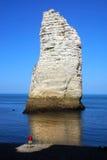 Chalk cliffs at Cote d'Albatre. Etretat Stock Images