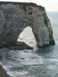 Chalk cliffs at Cote dAlbatre. Etretat, France Stock Photo