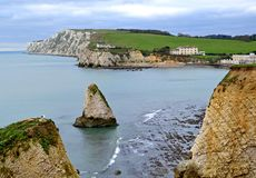 Chalk Cliffs, Freshwater Bay, Isle of Wight, England Royalty Free Stock Image