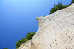Chalk cliffs on the island of Ruegen in Germany Royalty Free Stock Photo