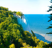 Chalk Cliffs. At the Jasmund National Park in Rugen, Germany Royalty Free Stock Photo