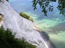 Chalk cliffs of Møn. Island of Møn, Denmark 2005 Royalty Free Stock Image