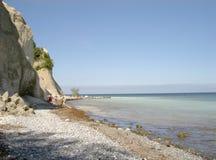 Chalk cliffs of Møn. Island of Møn, Denmark 2005 Stock Photography