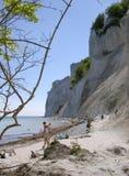 Chalk cliffs of Møn. Island of Møn, Denmark 2005 Royalty Free Stock Photos