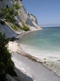 Chalk cliffs of Møn royalty free stock images