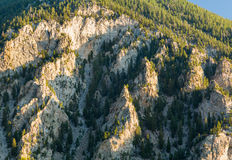 Chalk cliffs of Mt Princeton Colorado Royalty Free Stock Photos