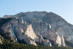 Chalk cliffs of Mt Princeton Colorado Stock Images