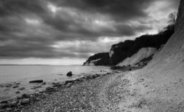 Chalk cliffs in National Park Jasmund, Sassnitz, Rügen island, Germany royalty free stock photography