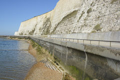 Chalk Cliffs near Brighton Marina, Sussex, England Stock Images