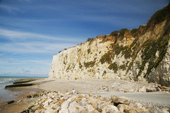Chalk cliffs Normandy Royalty Free Stock Image