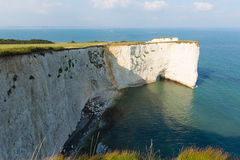 Chalk cliffs Old Harry Rocks Studland coast in Dorset south England UK Stock Photography