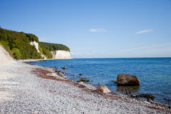 Chalk cliffs of Rügen Stock Photos