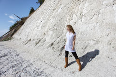 At the chalk cliffs of Rügen Royalty Free Stock Photography