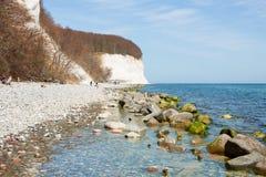 Chalk cliffs of Rügen Island Royalty Free Stock Photography