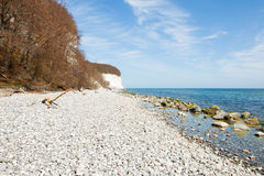 Chalk cliffs of Rügen Island Stock Photos