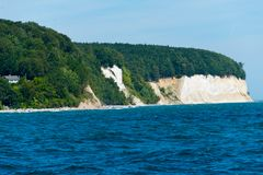 Chalk cliffs of ruegen stock images