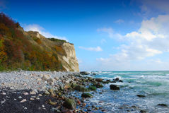 Chalk cliffs (Ruegen, Germany) Royalty Free Stock Photography