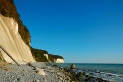 Chalk cliffs (Ruegen, Germany) Royalty Free Stock Photo