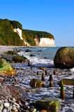 Chalk cliffs (Ruegen, Germany) Stock Images
