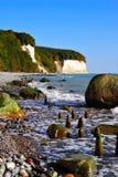 Chalk cliffs (Ruegen, Germany) stock images