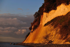 Chalk cliffs (Ruegen, Germany) Stock Image